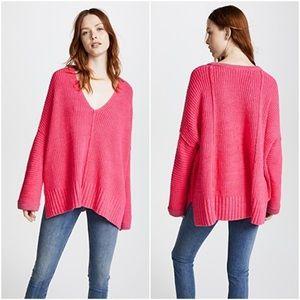 Free People Pink Take Me Over Sweater